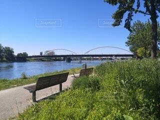 国境にかかる橋の写真・画像素材[4768462]
