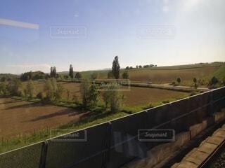 電車からの眺めの写真・画像素材[4768482]