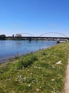 川にかかる橋の写真・画像素材[4768509]