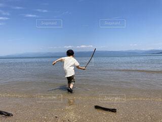 気持ちいい海の写真・画像素材[4724669]