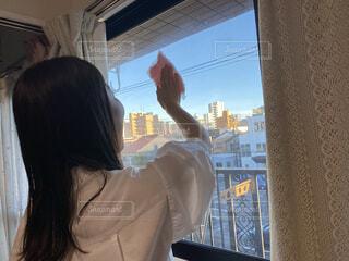 窓掃除の写真・画像素材[4822317]