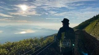 登山の写真・画像素材[4936534]