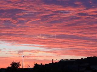 都市に沈む夕陽の写真・画像素材[4819326]