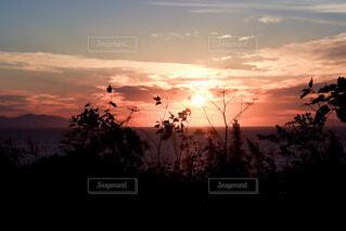 日没時の空の写真・画像素材[4826188]