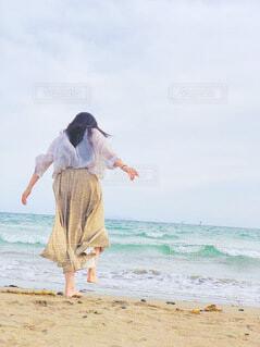 波vs私の写真・画像素材[4733822]