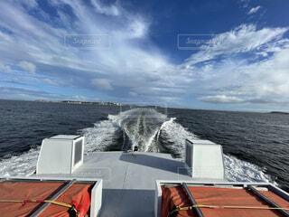 船と海と空の写真・画像素材[4734421]