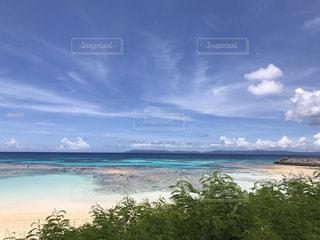 水の体の近くのビーチの人々 のグループの写真・画像素材[904520]