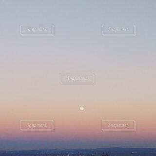 自然,風景,空,夕暮れ,山,街,月