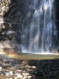 虹と滝の写真・画像素材[4794795]