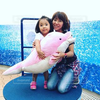 水族館,ママと子供