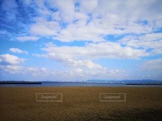 風景,海,空,屋外,ビーチ,雲,水面,海岸,日中