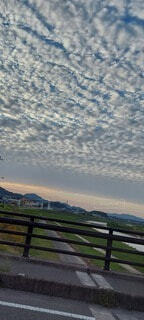 空,雲,水面,高層ビル