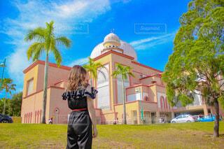 マレーシアサバ大学前での写真・画像素材[4760673]
