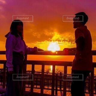 夕陽が沈む前にの写真・画像素材[4827368]