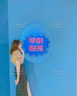 韓国のフォトブースの写真・画像素材[4857424]