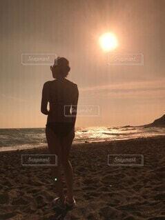 サンセットビーチの写真・画像素材[4824636]