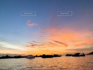 夕陽フォトの写真・画像素材[4824640]