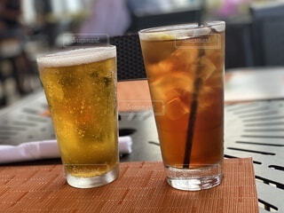 暑い日は冷たい飲み物の写真・画像素材[4789718]