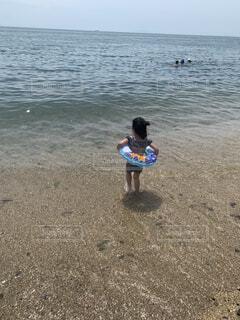 はじめての海デビュー✨の写真・画像素材[4767170]