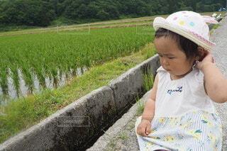 帽子をかぶった女の子の写真・画像素材[4777579]