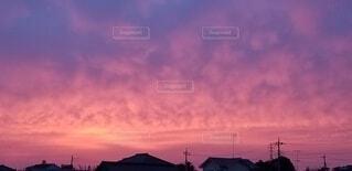 空,屋外,雲,夕暮れ,日の出,くもり