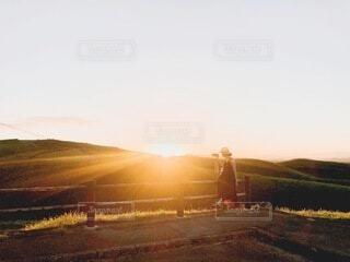 阿蘇の夕暮れの写真・画像素材[4773271]