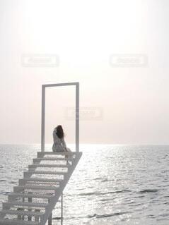 海辺の天国の階段の写真・画像素材[4773336]