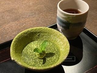 ぐり抹茶のブリュレの写真・画像素材[4768084]