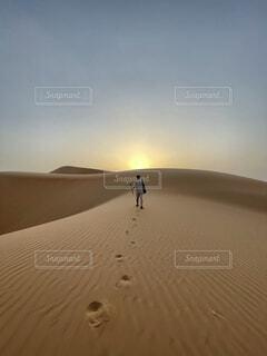 砂漠にたたずむの写真・画像素材[4768457]