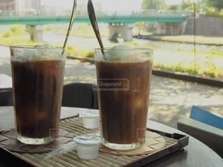 夏のコーヒーフロートの写真・画像素材[4770920]
