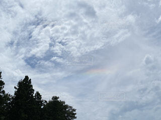 空に現れた虹のカケラの写真・画像素材[4770247]