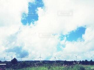 風力発電のある景色の写真・画像素材[4771063]