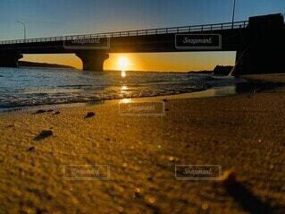 池間大橋サンセットの写真・画像素材[4771303]