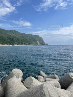 遠くのビーチの写真・画像素材[4770453]