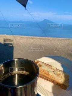 モーニングコーヒー byレイクキャンプの写真・画像素材[4770683]