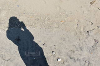 砂の中を歩いている人の写真・画像素材[4778802]