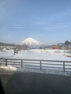 真冬の羊蹄山in北海道の写真・画像素材[4770916]