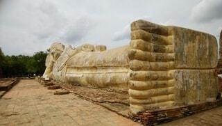 タイ  アユタヤ遺跡の写真・画像素材[4773456]