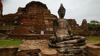 タイ国 アユタヤ遺跡の写真・画像素材[4773458]