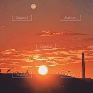自然,空,屋外,太陽,朝日,雲,夜明け,オレンジ,朝焼け,日の出,朝陽