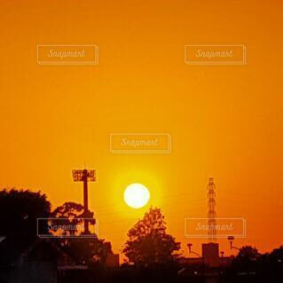 風景,空,夕日,屋外,太陽,夕焼け,夕暮れ,樹木,夕陽,日の出,夕景,明るい,サンセット,夕暮れ時,日没前,街路灯