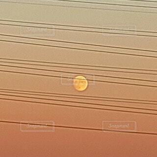 自然,屋外,夕方,月,満月,月夜