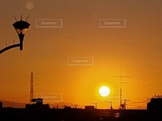 綺麗な夕陽の写真・画像素材[4826577]