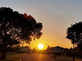 夕陽が沈む頃の写真・画像素材[4826924]