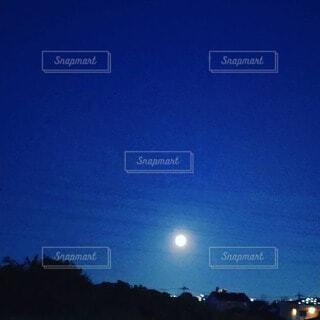 自然,空,夜,夜空,屋外,樹木,月