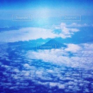 飛行機から見た美しい富士山の写真・画像素材[4844949]
