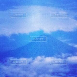 飛行機から、見えた富士山の写真・画像素材[4844978]