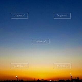 美しい夕焼け空の写真・画像素材[4854570]