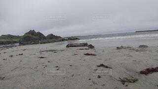 自然,海,空,屋外,砂,ビーチ,雲,砂浜,水面,海岸