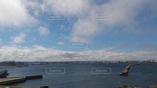 風景,海,空,屋外,湖,ビーチ,雲,ボート,船,水面,くもり,日中